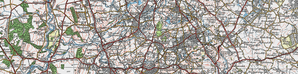 Old map of Brierley Hill in 1921