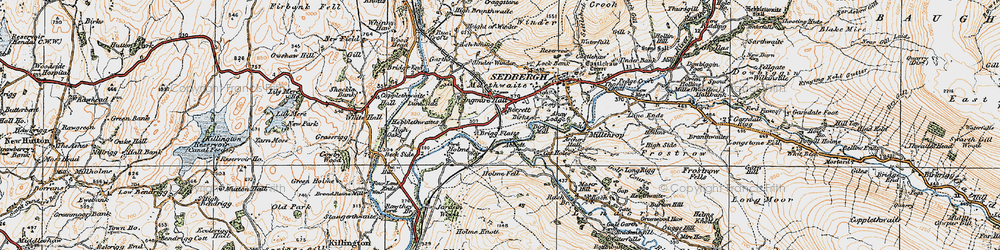Old map of Abbot Holme in 1925