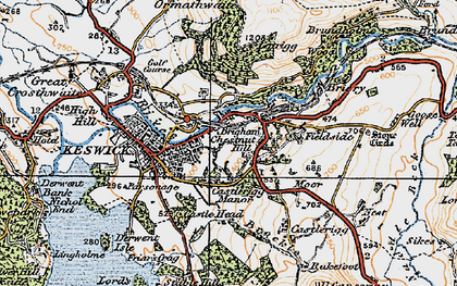 Old map of Latrigg in 1925