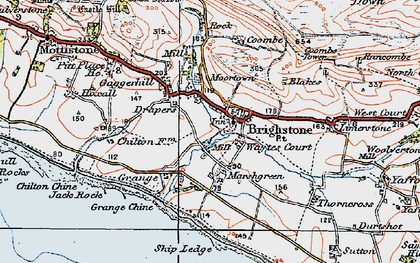 Old map of Brighstone in 1919