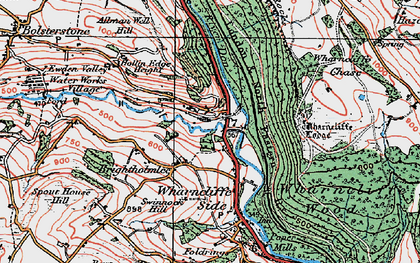 Old map of Wharncliffe Lodge in 1924