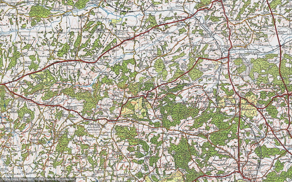 Old Map of Brightling, 1920 in 1920