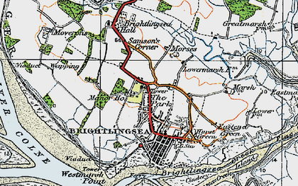 Old map of Westmarsh Point in 1921