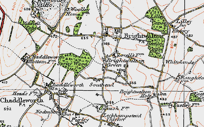 Old map of Brightwalton Green in 1919