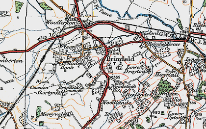 Old map of Brimfield in 1920