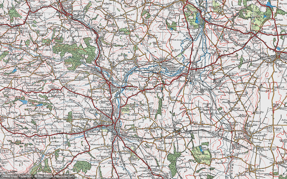 Old Map of Brimington, 1923 in 1923