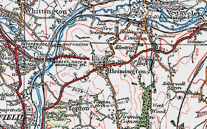 Old map of Brimington in 1923