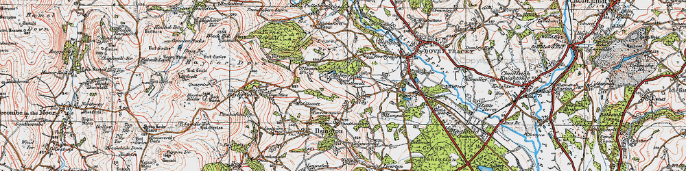 Old map of Langaller in 1919