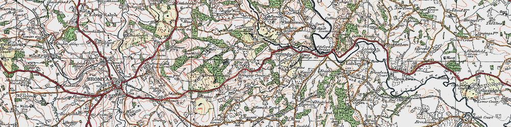 Old map of Whitbourne Hall in 1920