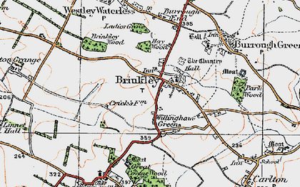 Old map of Brinkley in 1920