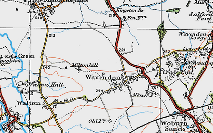 Old map of Brinklow in 1919