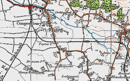 Old map of Brinsea in 1919