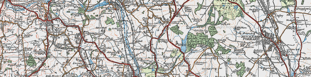 Old map of Willey Spring in 1921