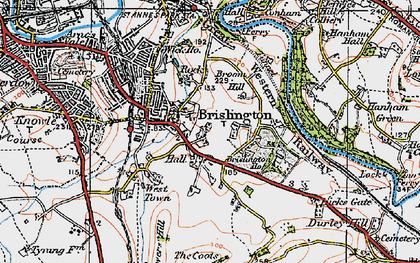 Old map of Brislington in 1919