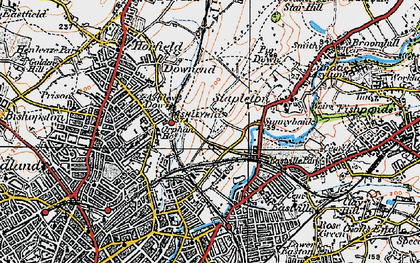 Old map of Bristol in 1919