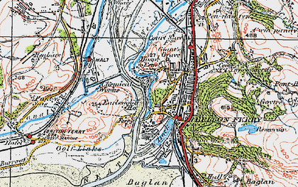 Old map of Briton Ferry in 1923