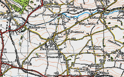 Old map of Britten's in 1919
