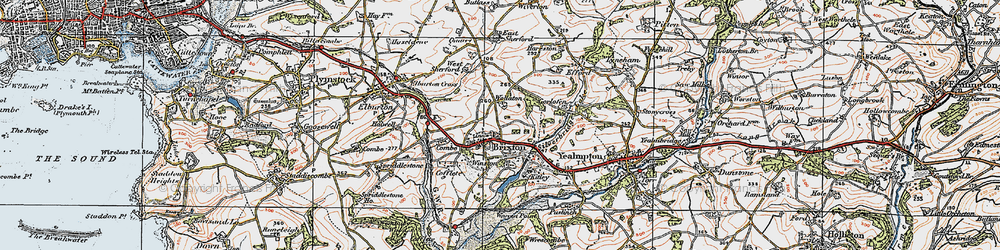 Old map of Winston in 1919