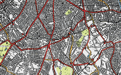 Old map of Brixton in 1920