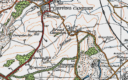 Old map of Westington Hill in 1919