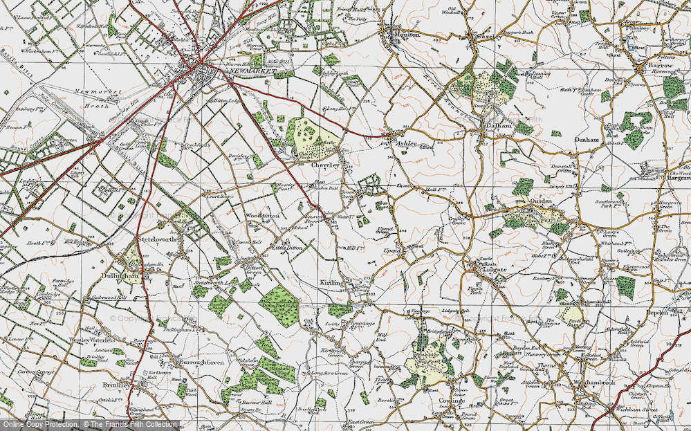Old Map of Broad Green, 1920 in 1920