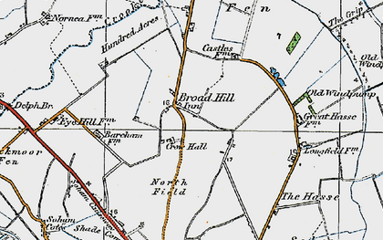 Old map of Broad Hill in 1920
