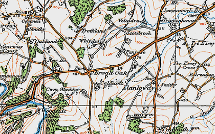 Old map of Broad Oak in 1919
