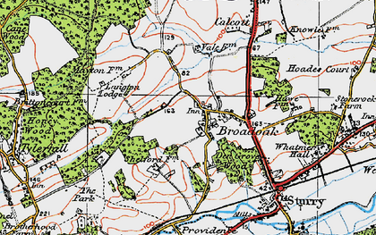 Old map of Langton Lodge in 1920