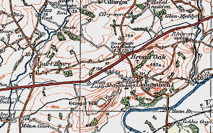Old map of Broad Oak in 1923