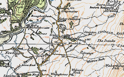 Old map of Whitrow Beck in 1925