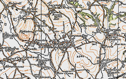 Old map of Levaton in 1919