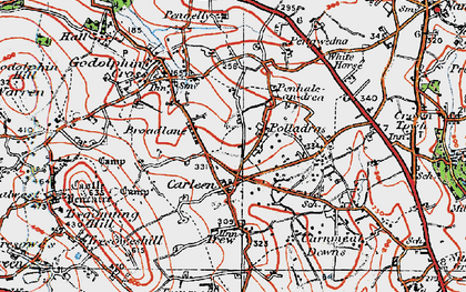 Old map of Wheal Vor in 1919