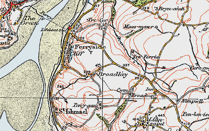 Old map of Broadlay in 1923