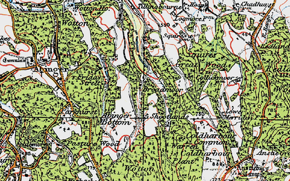 Old map of Wotton Common in 1920