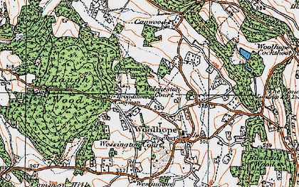 Old map of Broadmoor Common in 1920