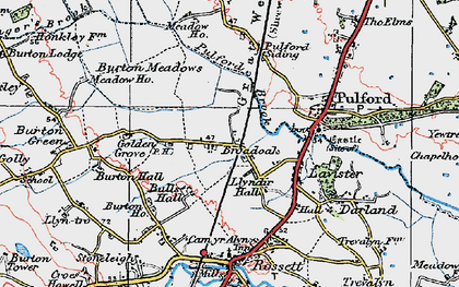 Old map of Ball's Hall in 1924
