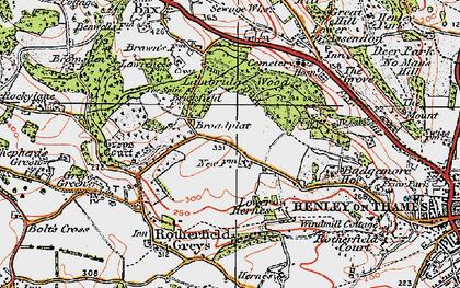 Old map of Broadplat in 1919