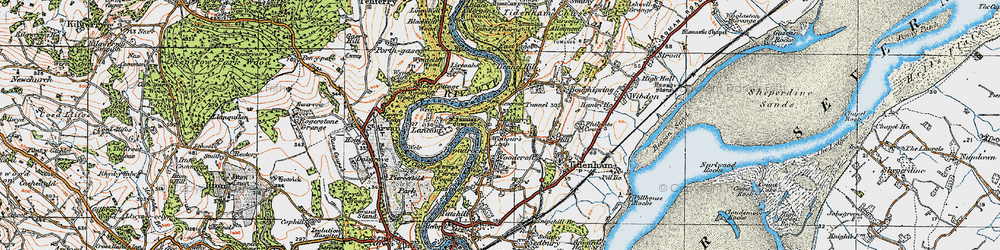 Old map of Wintour's Leap in 1919