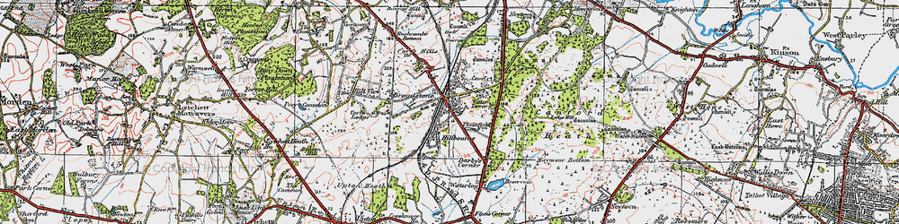 Old map of Broadstone in 1919