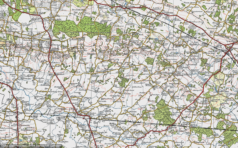 Old Map of Historic Map covering Woodsden in 1921