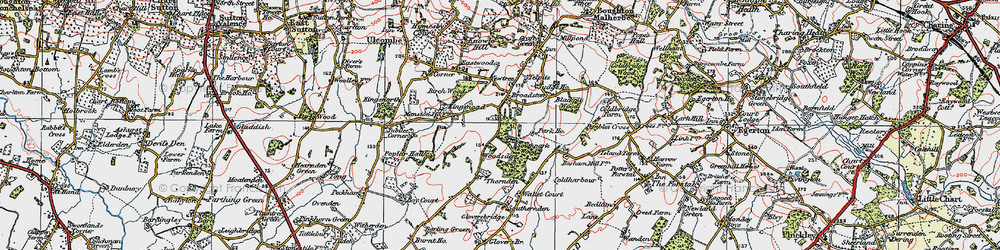Old map of Woodsden in 1921
