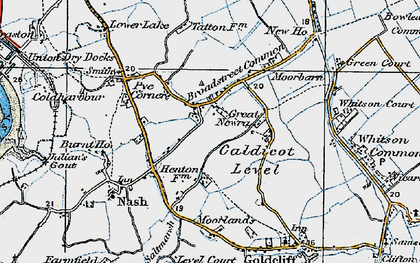 Old map of Broadstreet Common in 1919