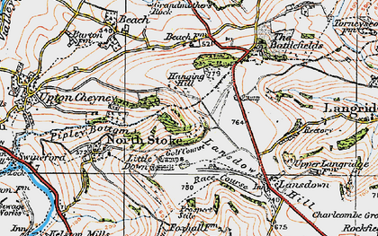 Old map of Brockham End in 1919
