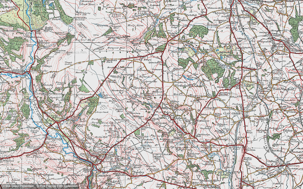 Old Map of Historic Map covering Alicehead in 1923