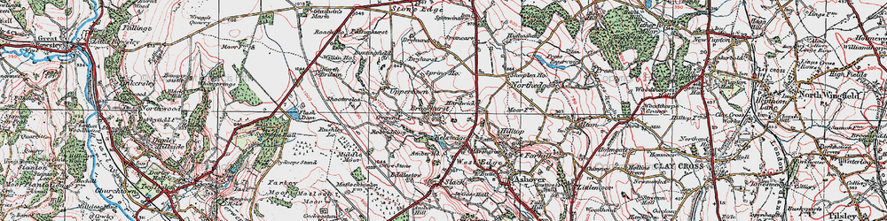 Old map of Alicehead in 1923