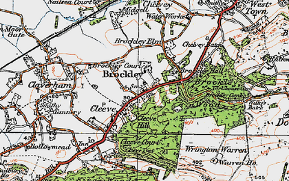 Old map of Wrington Warren in 1919