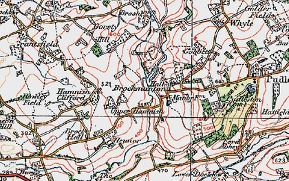 Old map of Bach in 1920