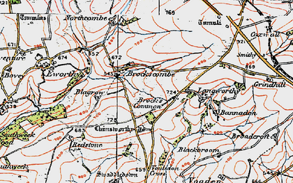 Old map of Bannadon in 1919