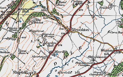 Old map of Larden Hall in 1921