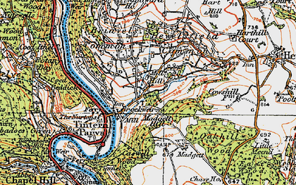 Old map of Brockweir in 1919